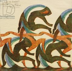 Corps de Ballet, 1932 (linocut)  Cyril Power