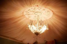 How to create a princess canopy ceiling.