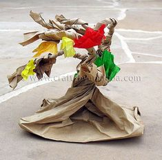 Paper Bag Tree- grade loved this - - Fall Crafts For Kids Autumn Crafts, Fall Crafts For Kids, Autumn Art, Autumn Trees, Art For Kids, Kids Crafts, Autumn Poem, Kids Fun, Autumn Activities