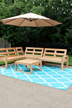 DIY Outdoor Sectional for Under $100 | Gray House Studio