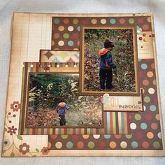 Vintage Scraps 8x8 Simple Stories Fall layout