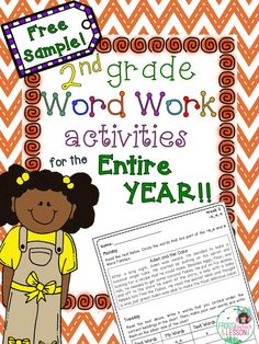 Grade Word Work activities with short stories, sorting, identifying, sentence writing, and. 3rd Grade Words, 2nd Grade Ela, 2nd Grade Writing, 2nd Grade Teacher, 2nd Grade Classroom, 2nd Grade Reading, Second Grade, Grade 2, Classroom Ideas