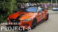 JAGUAR XE SV Project 8 R-Sport 35t 2017 Review - Exhaust, Interior  - Sp...