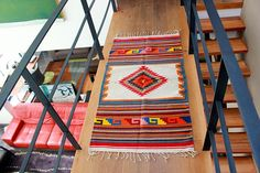 Wool Rug. Green or colorful by tetemexican on Etsy