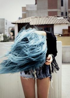 """COLOUR. lol love this pinner's quote: """"blue hair !!!!! it not like AGGHHHHH but its still like agghhhh"""""""
