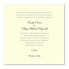 Calligraphy Swirl Formal Wedding Invitations