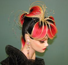 Matrix Mannequin Mania Winners Announced! Avant Garde Hair. Flower Hair. Outstanding.