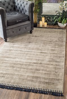 A lovely Rugs USA rug with small tassels!