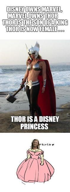 Thor is a pretty princess