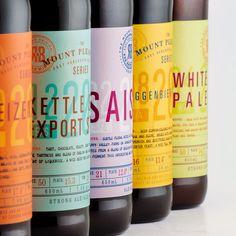 The Mt Pleasant Series — The Dieline - Branding & Packaging Design Beverage Packaging, Bottle Packaging, Brand Packaging, Packaging Design, Branding Design, Coffee Packaging, Food Packaging, Corporate Design, Craft Beer Brands