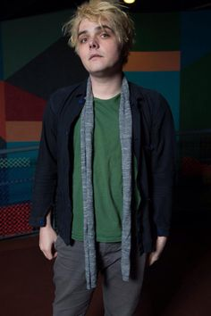 Gerard Way | he looks like a comic nerd who only leaves his shitty apartment to attend college and probably reeks of black coffee. Just makes him endearing