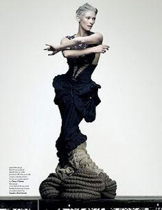 Lilogi.com - inspiration image, avant-garde fashion, art, craft, #avantgarde #fashion #tildaswinton