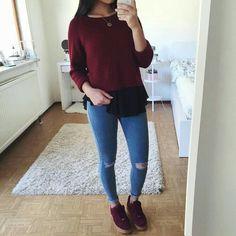 fille swag · Jeans Troué, Jeans Skinny, Purple Rain, Bambusoideae, Pantalon  Capri, Tenues,