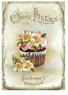 chocolat vintage print