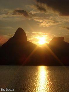 Rio de Janeiro-Brazil...gorgeous sunset...sunrise? either way, still breathtaking.