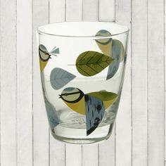 BIRDY - GLASS TUMBLER - BLUE TIT