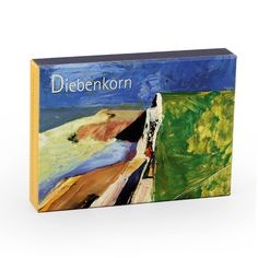 Diebenkorn moved from abstract expressionism in the 1940s into figurative painting-he led the Bay Area Figurative Movement in the 1950s-and back into the abstract, producing elegant, thought-provoking works exemplified by those reproduced in this notecard set from the Fine Arts Museums of San Francisco. 20 assorted 5'' x 7'' blank notecards (5 each of 4 styles) with envelopes in a decorative box.