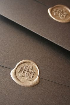 I think wax sealing the invites is very elegant. :)