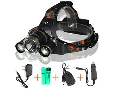 iZEEKER Waterproof LED Headlamp Headlight with 3 Bulbs Cree T6 Bright 4 Modes 5000lm Led Headlamps for Outdoor Sports Hiking Camping Riding Fishing Hunting >>> See this great product.