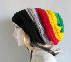 5e10ed50a81 Unisex Rasta Hat Dreadlocks Hat Bob Marley Hat by recyclingroom Crochet  Shoes