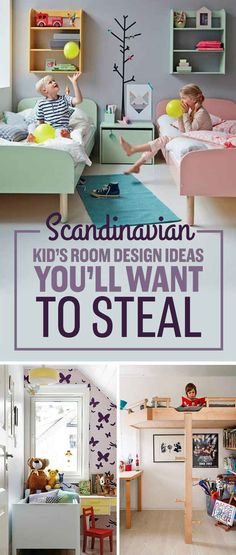 Better way to get in a bunk for sure  17 Scandinavian Kid's Room Design Ideas You'll Want To Steal