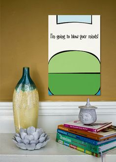 Finn the Human // Adventure Time Minimalist Quote Poster by TheGeekerie, $18.00