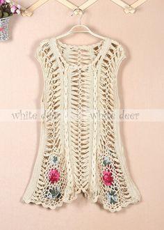 Crochê sem mangas Long Dress bordado Floral líquida fazendo. malha feitos à mão femininas | Roupas, calçados e acessórios, Roupas femininas, Vestidos | eBay!