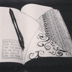 Wreck this journal - pretend you are doodling on the back of an evelope while on the phone