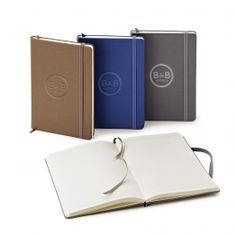 Neoskin Hardcover Journal - Available in  grey, navy & brown.