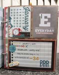 Yearly planner #simplestories Daily Grind collection