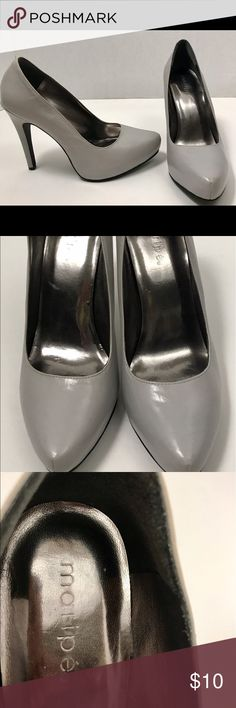"Really cute gray heels!! 👠5""heel Theses are size 7 super cute 👠 heels with a 5"" heel ! They are gray and in great condition, worn only a few times!! The brand is called Mollipe' !! ❤️❤️ mollipe Shoes Heels"