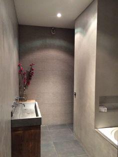 beton ciré de eerste kamer barneveld mooie lichte kleur beton cire, Badkamer