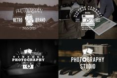 Retro Photography Logo Templates Set by JeksonGraphics on @creativemarket