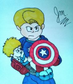 Chris Evans / Captain America : Civil War  / Steve Rogers With His Baby Future Son