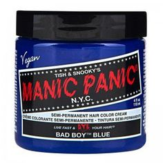 Manic Panic - Bad Boy Blue Hair Dye,4 Oz