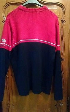 RALPH LAUREN Polo Sweater Red Cable Knit sz-M