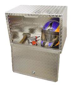 2 Foot Diamond Plate Aluminum Standard Overhead Cabinet! Made in the USA!