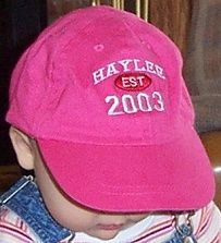 Beth Mallory owns Take A Stroll, and has some great gift items for kids .... this cute little personalized ball cap is a good example.  Check it out!