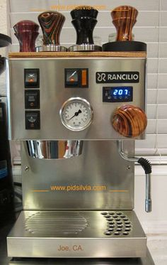 Post your espresso machine Rancilio Silvia pictures with PID temperature control or Pressure Gauge or any othere mod Cappuccino Maker, Cappuccino Machine, Cappuccino Coffee, Espresso Maker, Coffee Cups, Coffee Maker, Best Espresso Machine, Blended Coffee, Best Coffee