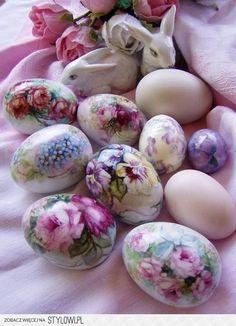 Ouă de Paște - decoupage pe Stylowi.pl