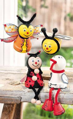 Figurines rebord d'étagère en pots en terre cuite - fiches créatives gratuites à télécharger ✓ Réalisation facile ✓