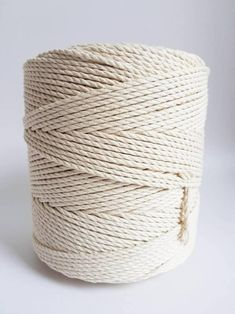 Table Runner and Decorative Projects 3 Strands Twisted Soft Cotton Cord Wall Hanging Macrame Cord 4mm x 218Yards 100/% Natural Cotton Macrame Rope for Plant Hanger