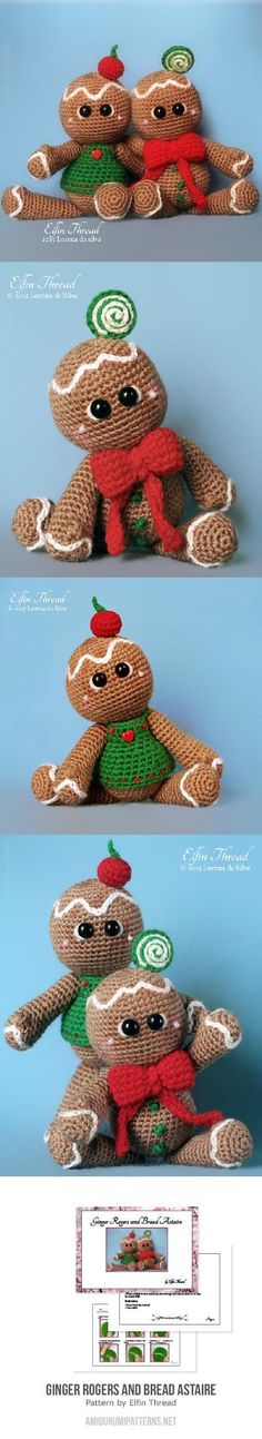 Ginger Rogers And Bread Astaire, The Gingerbread Cookies Amigurumi Pattern