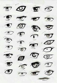 Eyes in manga