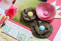 Flower Accents How-To by Greta Hammond for Fancy Pants Designs