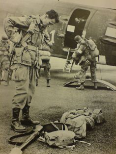 Major General James M. Gavin commander of the 82nd AB just before leaving to drop into Holland Sept 1944