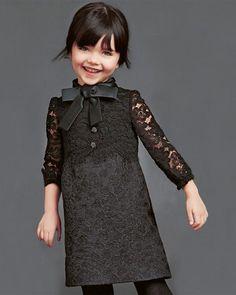 dolce gabbana black girls dress holidays 2014