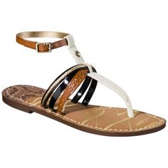 5d61d75e1 Womens Sam   Libby Kylie Strappy Thong Sandal - BrownCream  17.50 Brown  Sandals