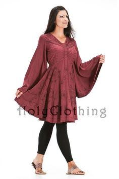 Ariana Gothic Bell Sleeve Victorian Empire Butterfly Tunic Top - Tops    http://holyclothing.com/index.php/catalog/product/view/id/3113/s/ariana-gothic-bell-sleeve-victorian-empire-butterfly-tunic-top/#