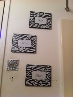 This would be a great idea for a bathroom that is all zebra